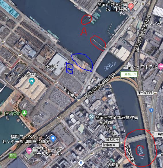 福岡おすすめのシーバス釣りポイント「御笠川河口」